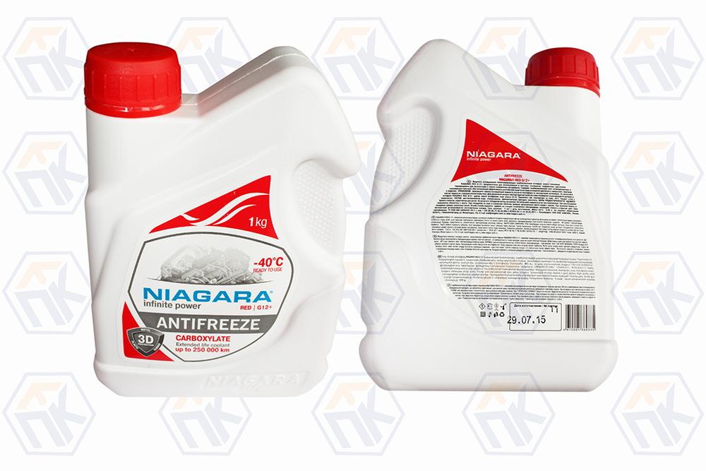 """Жидкость охлаждающая """"Антифриз Ниагара""""  G12+ красный, 1кг."""