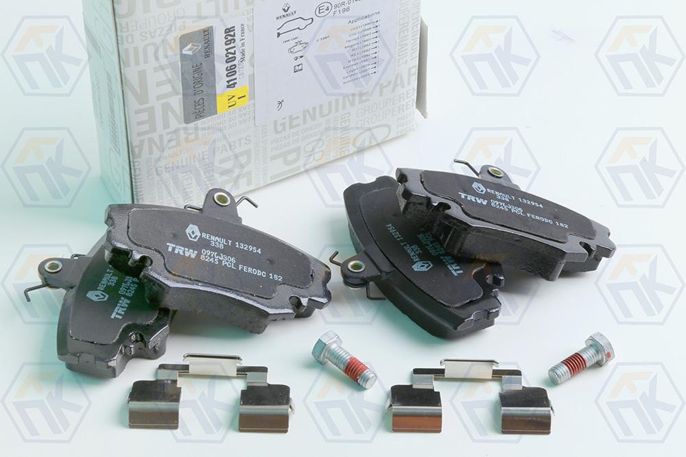Комплект тормозных колодок передних 410602192R LARGUS универсал 5мест/8 кл.