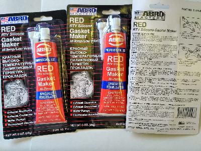 Герметик прокладок высокотемпературный красный ABRO 11-AB, 85 г.