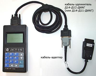 Автомобильный диагностический сканер-тестер ДСТ-14Т\НК1