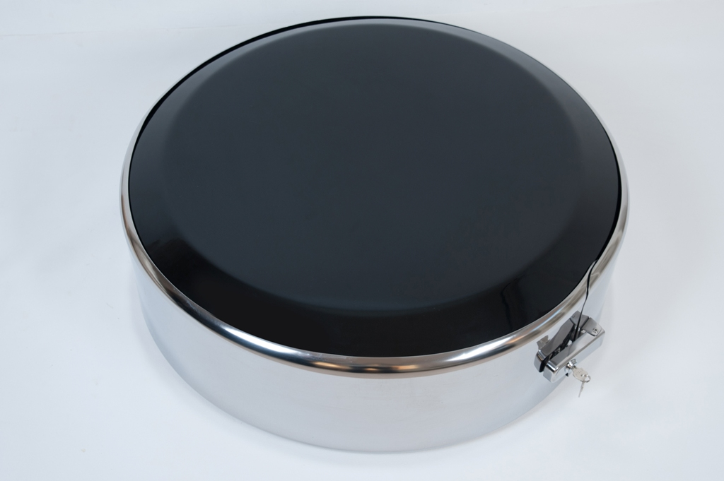Чехол (колпак) запасного колеса,  обод нерж. сталь